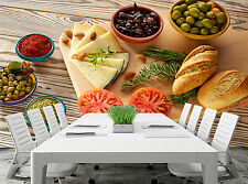 Food- Bread,Olives,Cheese Wall Mural Photo Wallpaper GIANT DECOR Paper Poster