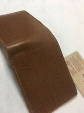 LEVI'S Americas Original Jeans 1873 LEATHER TRIFOLD WALLET Stamped Logo RFID!