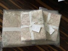 Pottery Barn King Size Aubrey Paisley Quilt Set W/ 2 King Shams Pale Pink Nwt