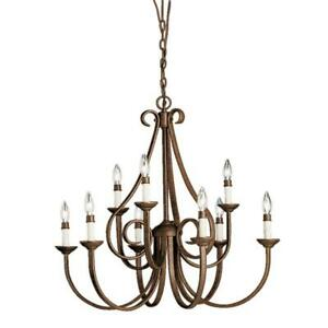 Kichler Dover 9-Light Tannery Bronze 2-Tier Chandelier