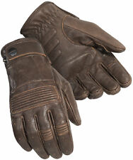 Cortech Mens Café Brown Duster Leather Motorcycle Gloves