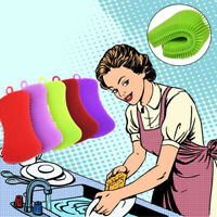 Premium Silicone Dish Washing Brush Sponge Scrub  Kitchen Pot Cleaning Brushes