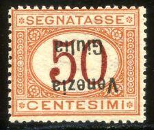 Venezia Giulia 1918 Segnatasse n. 6a ** varietà sovrastampa capovolta (m3103)