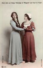 POSTCARD ACTRESSES MARIE LOHR & MADGE TITHERADGE - FAUST