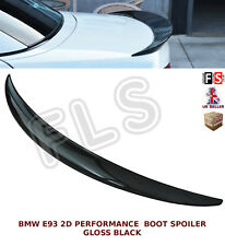 BMW 3 SERIES E93 2D PERFORMANCE REAR TRUNK BOOT SPOILER GLOSS BLACK 2007 UP