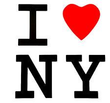 """I LOVE NEW YORK"" 5"" X 5"" STICKER DECAL PLOTTER CUT  ""Buy 2 get 1 Free"""