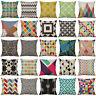 Geometric Printed Cotton Linen Cushion Cover Throw Pillow Case Sofa Home Decor