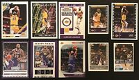 LEBRON JAMES 10x 2019-20 LOT: (7 Cards & 3 Stickers) All 10 in Lakers Jersey!