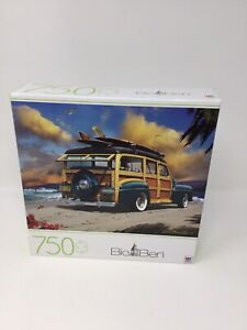750 Piece Big Ben Jigsaw Puzzle Let's Go on a Surfin' Safari, New Sealed