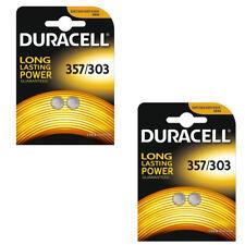 2X 2 Duracell 357/303 1.5V Silver Oxide Watch Battery D357H D357/303 V303 SR44