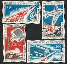 1972 Central African Republic  -  Post & Communications o/p Centraphilex (4) CTO