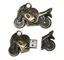 Moto Motor bike doré en métal clé USB 16 Go de mémoire USB Flash Drive
