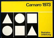 Owner's Manual * Manuel 1973 Chevrolet Camaro (d)