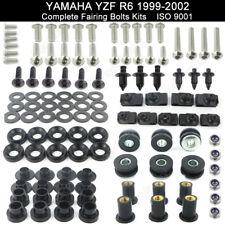 Stainless Steel Fairing Bolt Bodywork Screws Nuts For Yamaha YZF R6 1999-2002