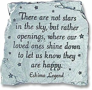 There Are Not Stars Sky But Openings Where Loved Ones Shine Down Memorial Slate