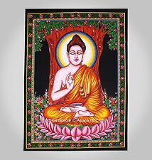 Indian Wall Hanging Lord Buddha Tapestry Ethnic Table Cover Ethnic Yoga Mat Boho