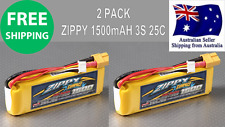 2 Pack ZIPPY COMPACT 1500mAh 3S 25C 11.1v XT60 LIPO Battery RC Plane Helicopter