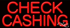 Brand New Check Cashing 32x13 Real Neon Sign Withcustom Options 11181