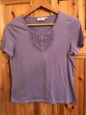 cc country casuals purple tshirt top frill front