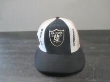 VINTAGE Oakland Raiders Hat Cap White Black NFL Football Snap Back Men 90s A55