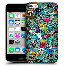 CUSTODIA COVER  per APPLE IPHONE 5C TPU BACK CASE STICKERS