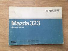 Mazda 323 Owner's Manual 1987 (8827)