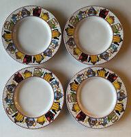 "Set of 4 Sakura Mary Engelbreit ""Afternoon Tea"" Bread Plates 6"""