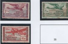 France colonies Afrique Equatoriale Française AEF YT PA 31, 32 et 34 */(*)