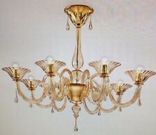 NEW! Sylcom Soffio 8 Light Chandelier 1380/8 D D.A. Amber Indoor FREE SHIPPING!