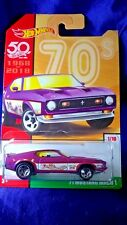 Hot Wheels '71 Mustang Mach 1 Throwback Decades 50th Anniversery #1/10 Exclusive