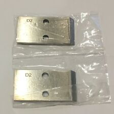 Gala 2-Hole (100 Qty.) Pelletizer knives 0.810 D2 Tool Steel material