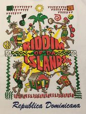 Riddim Of The Islands T Shirt L Large Graphic Tee 100% Cotton Short Sleeve