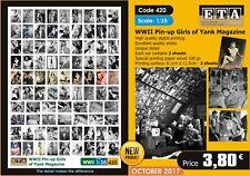 Escala 1/35 EE. UU. la segunda guerra mundial chicas pin-up de revista Yank