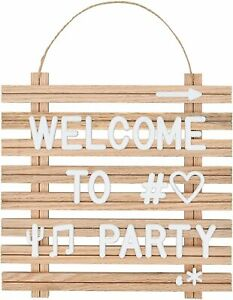 10''x10'' Wood Frame Letter Board with 249 Letters, Numbers & Symbols