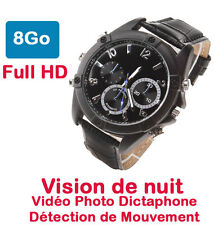 Watch Camera Spy 8 Gb Full HD Vision Nocturne Setector Movements