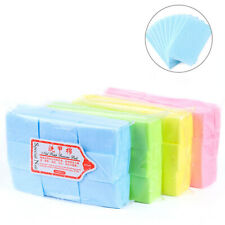 600Pcs Lint Free Nail Tip Makeup Manicure Polish Remover Cleaner Wipe Cotton Pad