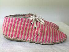 TOPSHOP Espadrilles pink/beige canvas women  Lace-up High Top shoes Size 8