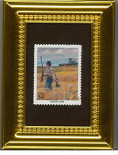 HARVEY DUNN'S SOMETHING FOR SUPPER COLLECTIBLE  FRAMED POSTAGE MASTERPIECE GIFT