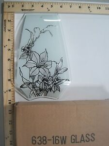 FREE US SHIP ok touch lamp replacement glass Clear Frost Flowers 638-16W