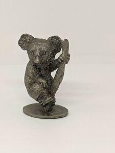 Vintage Miniature  Pewter KOALA  Collectible  Animal Figure