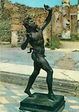 Italy Pompei the faun statuette postcard
