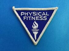 Vintage Rare 1970's Physical Fitness Award Hat Jacket Patch Crest C