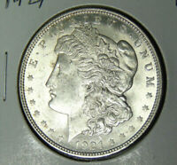 Choice AU 1921 Morgan Silver Dollar Philadelphia Mint (6218)