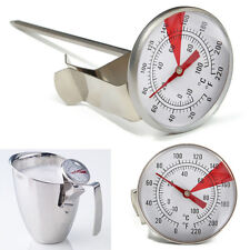 Milk Frothing Thermometer Coffee Maker Temperature Jug pan Clip On Steel Pod UK