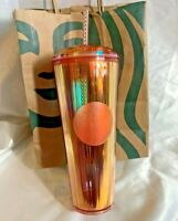 Starbucks Iridescent Dome Tumbler in Kaleidoscope Orange Tinted Summer 2020