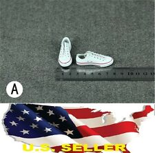 1/6 men shoes white Chuck Taylor Low Top sneakers for phicen hot toys ❶USA❶