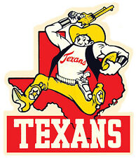 DALLAS TEXANS  NFL Football    Vintage Style 1950's  Travel Decal Sticker Label