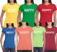7 Dwarfs Fun Snow White Seven Dwarve Costume Funny Quality Top T shirt