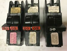 Federal Pacific 2 pole 30 Amp and 50 Amp Breakers (lot of 3)