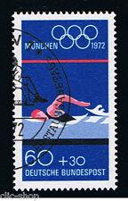 GERMANIA 1 FRANCOBOLLO GIOCHI OLIMPICI NUOTO 1972 usato